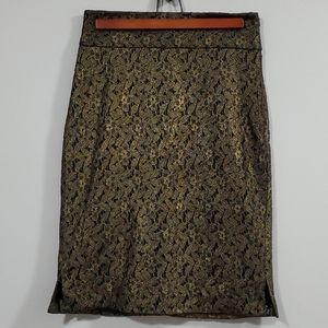 Guess by Marciano Skirt Gold and Black